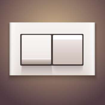 White vector switch off on brown background - vector gratuit #131633