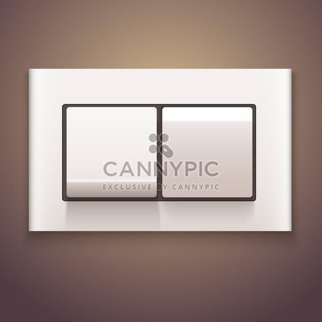 White vector switch off on brown background - Free vector #131633