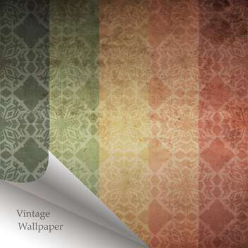 Vector abstract retro pattern with folded corner - бесплатный vector #131643