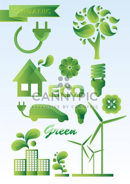 Ecology icons vector set - Free vector #131713