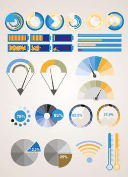 Vector infographic elements illustration - vector gratuit #131733