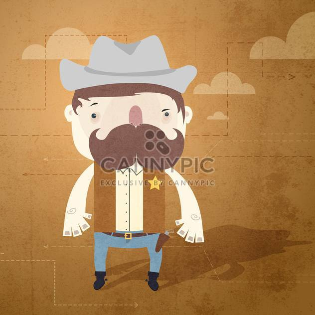 Vector grunge background with sheriff - Free vector #131773