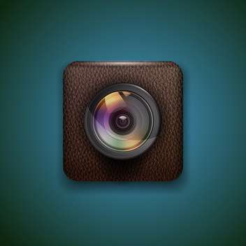 Photo camera web icon vector illustration - vector gratuit(e) #131843