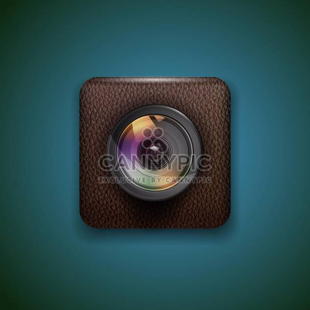 Photo camera web icon vector illustration - Free vector #131843