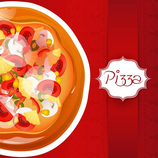 Background with pizza with place for text - Free vector #131853
