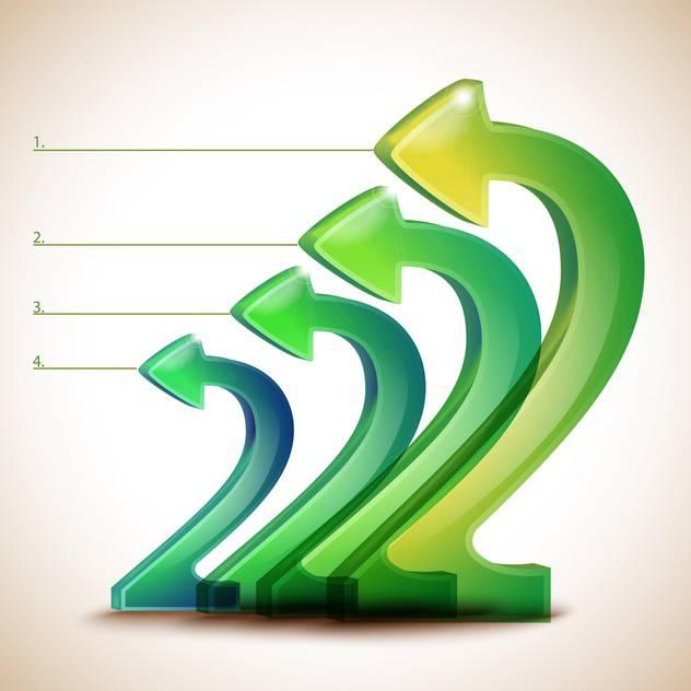 Vector background with green arrows - vector gratuit(e) #131953
