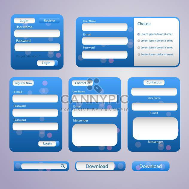 Login and register web screens vector illustration - Free vector #132053