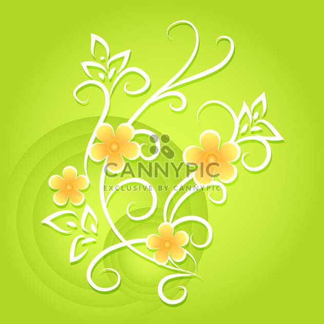 Grüne Vektor floral background - Kostenloses vector #132093