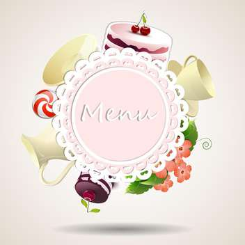 Restaurant menu design with copy space on light pastel background - vector #132103 gratis