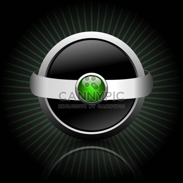 Black web button on dark striped background - Free vector #132123