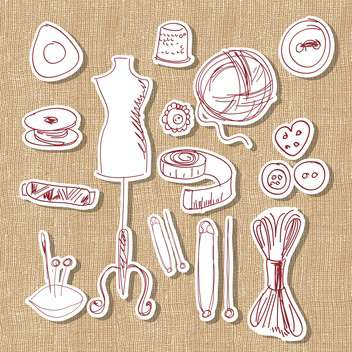 Designer, hand made and craft vector set - Free vector #132153