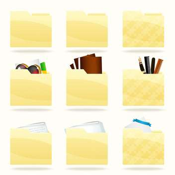 Vector folder icons set,vector illustration - vector #132173 gratis