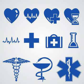 Blue medical buttons set - Free vector #132193