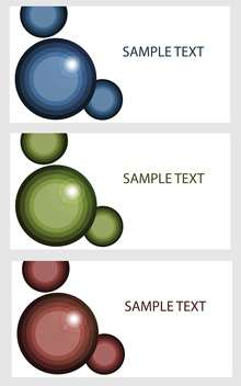 Vector banners with colored bubbles - vector #132223 gratis