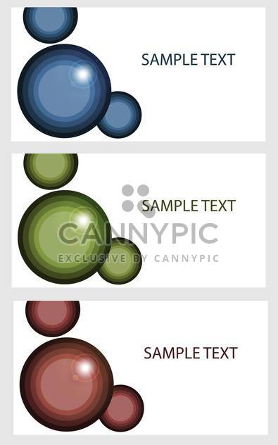 Vector banners with colored bubbles - Free vector #132223