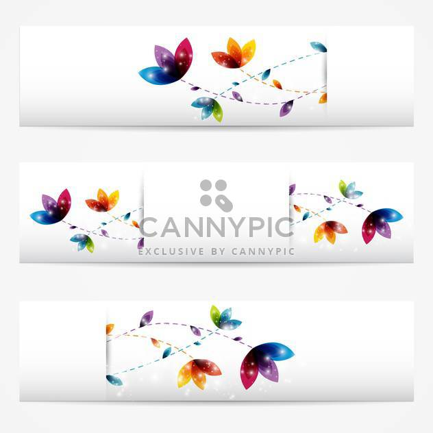 Vector set of abstract floral banners,vector illustration - Free vector #132253