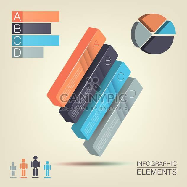 Prozessschritte Arrows - farbigen Infographik Elemente, Vektor-illustration - Kostenloses vector #132273