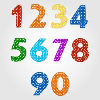 old fashioned colorful numbers,vector illustration - бесплатный vector #132353
