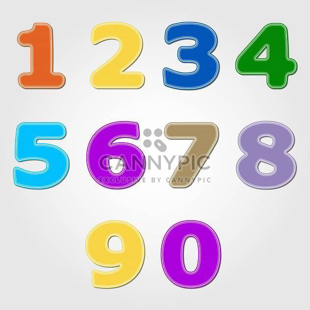 Numbers set modern style,vector illustration - Free vector #132363