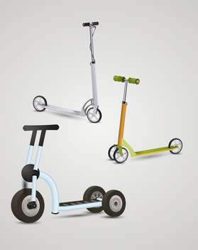 kick scooters on gray background - бесплатный vector #132413