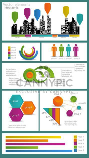 Business infographic elements,vector illustration - Free vector #132423