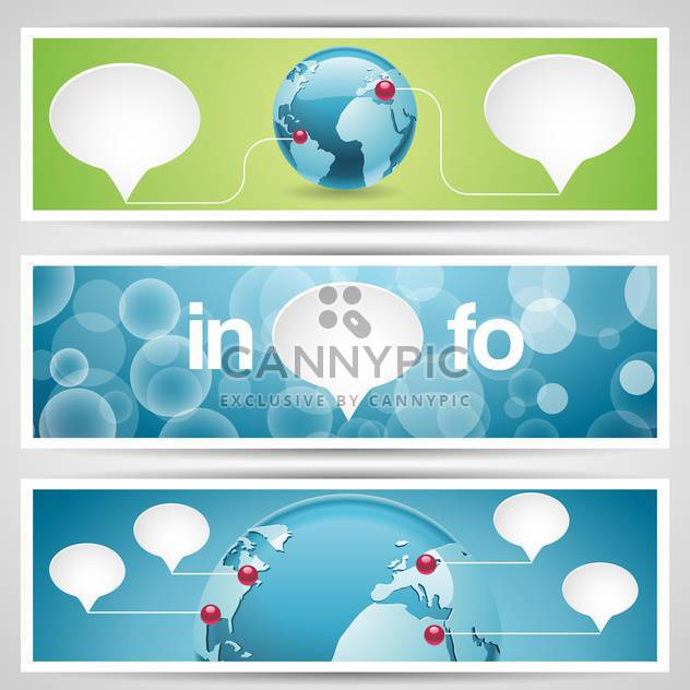World globe, network icons,vector illustration - Free vector #132433