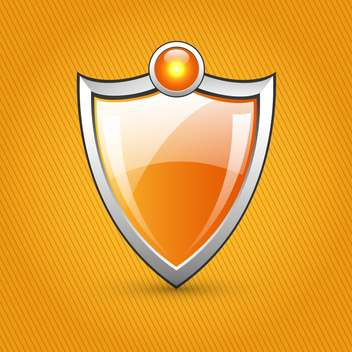 orange glossy shield background - Free vector #132533