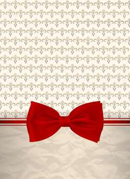 retro background with red bow - vector gratuit #132543