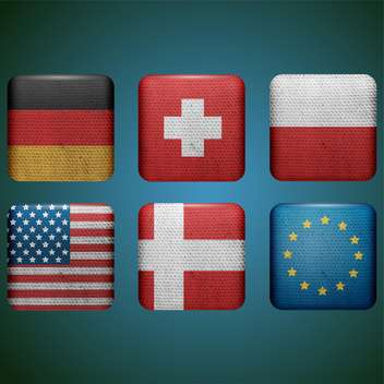 set of different countries flags - vector #132563 gratis