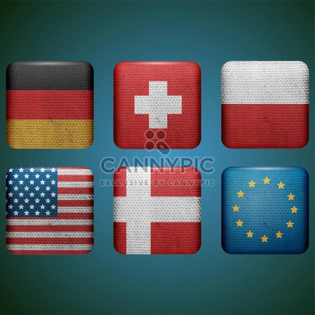 set of different countries flags - Free vector #132563