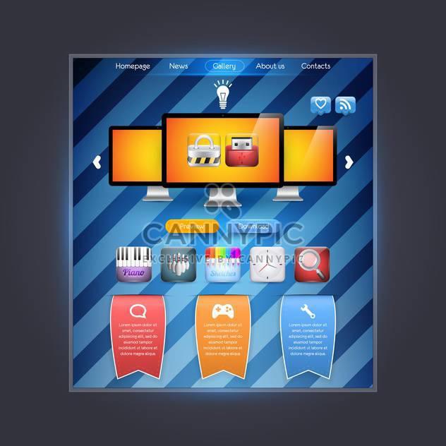 abstrakte Webseite Vorlage Hintergrund - Free vector #132643