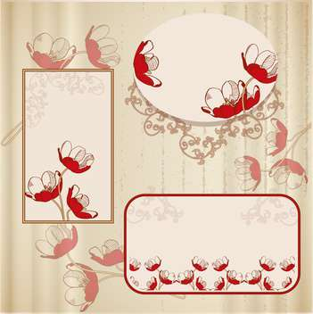 scrapbook templates set vector illustration - бесплатный vector #132653