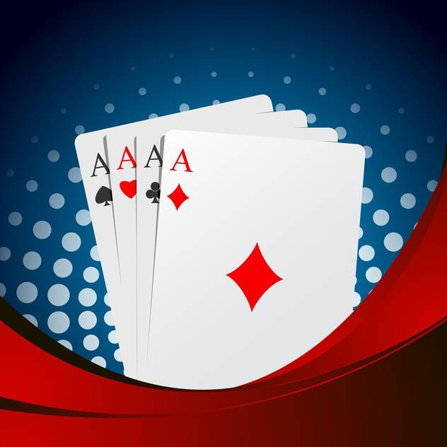 playing cards aces suits background - vector gratuit(e) #132753
