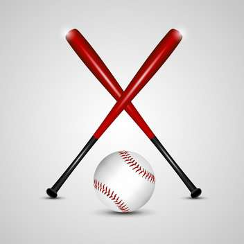 baseball bats and ball vector background - vector gratuit #132773