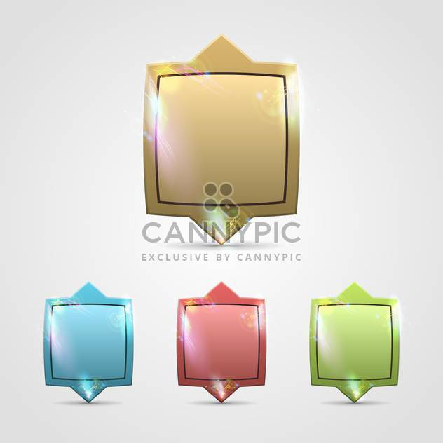 colored glossy blank web buttons - Free vector #132803