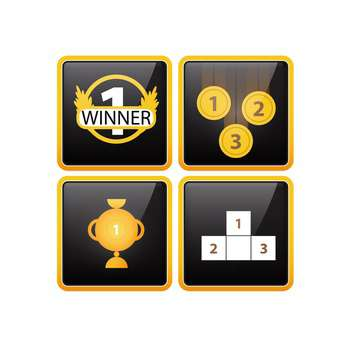 prizes and awards icons set - Free vector #132933