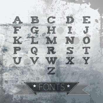 vector alphabet in vintage style - vector gratuit(e) #132943