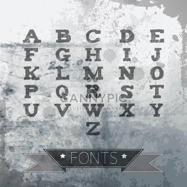 vector alphabet in vintage style - Free vector #132943