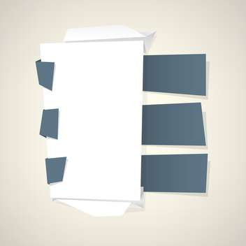 abstract paper ribbons vector background - vector #132963 gratis