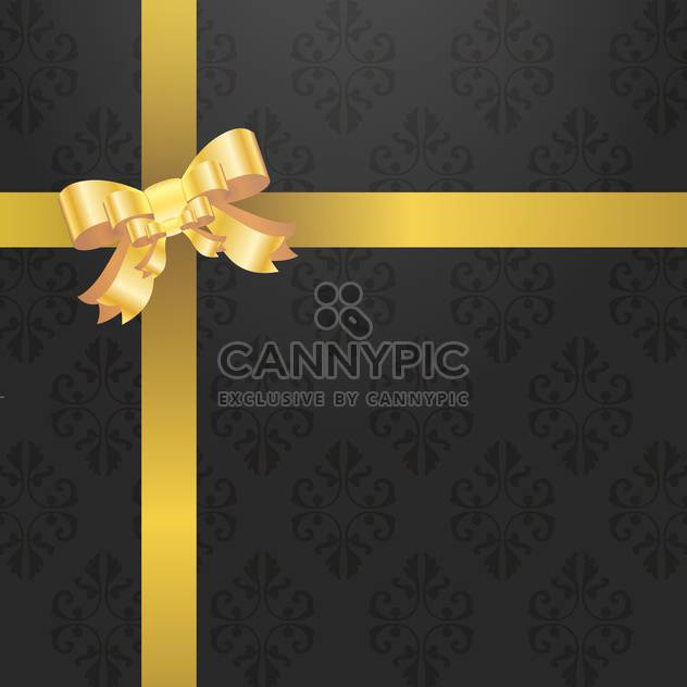 retro gift background with bow - Free vector #132983