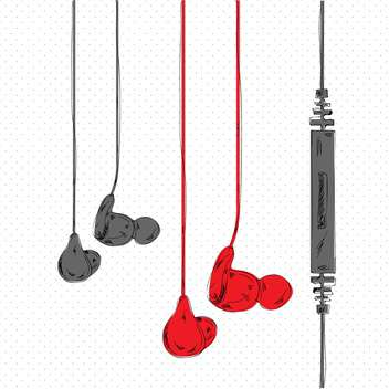 vector illustration of stereo headphones - vector gratuit #133033
