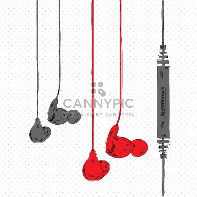vector illustration of stereo headphones - Free vector #133033