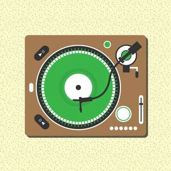 vector record vinyl player - vector gratuit #133043