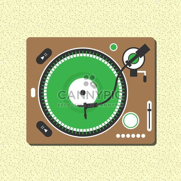 vector record vinyl player - Free vector #133043