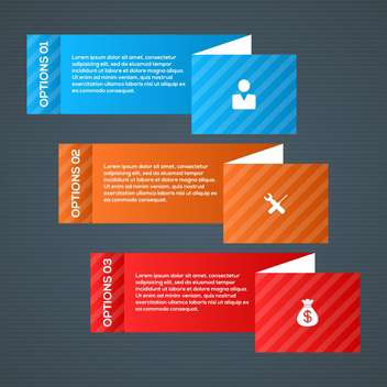 modern business step options - vector #133053 gratis