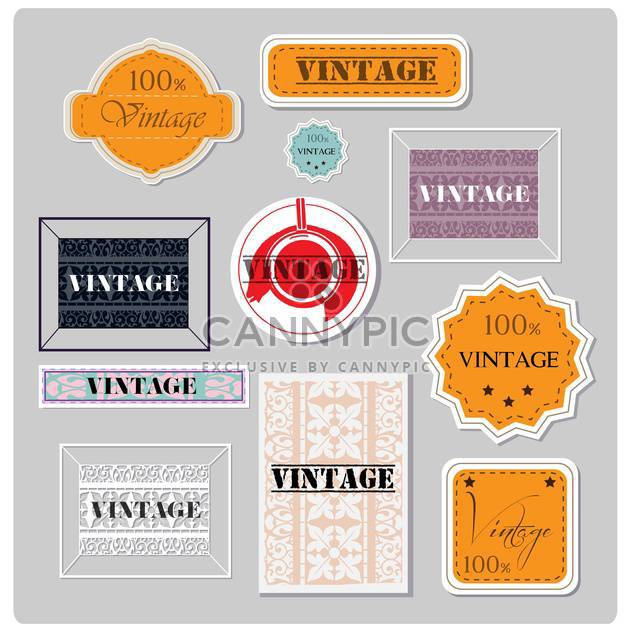 set of vector vintage labels - Free vector #133103