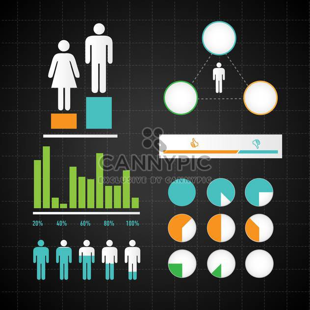 business infographic elements background - Free vector #133113