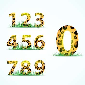 panther skin font numbering - Free vector #133133