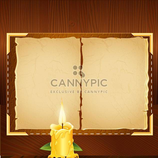 old book background and candle - Free vector #133283