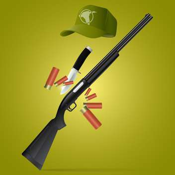 vector soldier rifle with bayonet - бесплатный vector #133293